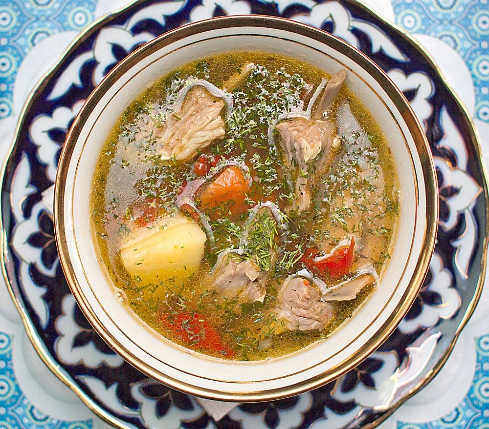 Узбекский суп шурпа с фото