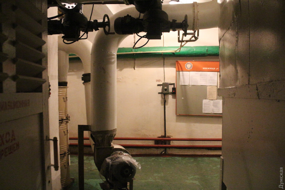 Вентиляционное помещение, насосы принудительной вентиляции