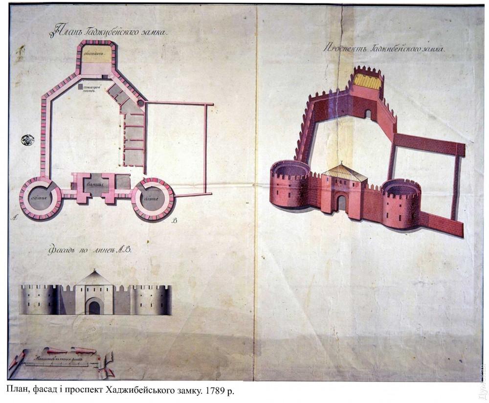 Хаджибейский замок был больше цитадели Аккерманской крепости