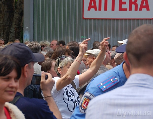 Милицейский смотр, митинг и контрмитинг на Куликовом поле, фото-14