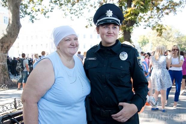 Тамара Лещинская с дочерью-полисменом