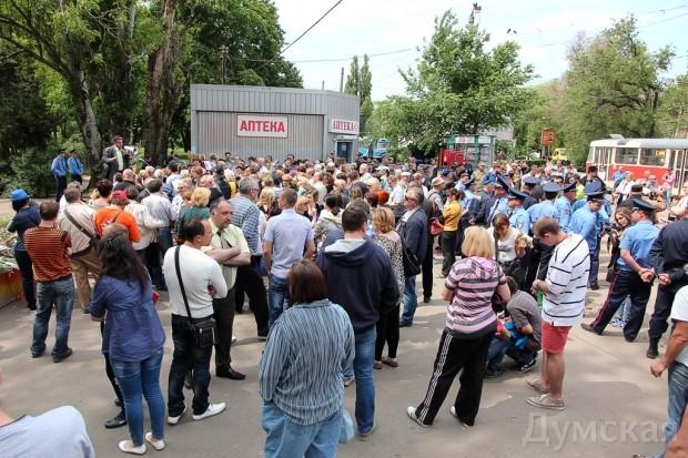 Милицейский смотр, митинг и контрмитинг на Куликовом поле, фото-9