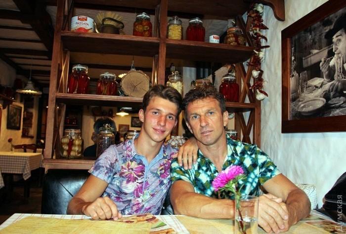 Александр Самолюк с сыном
