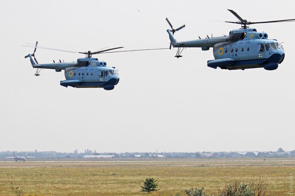 Пара Ми-14ПЛ Сакской бригады морской авиации