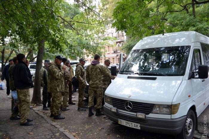 В центре Одессы задержали автобус с бойцами ВСУ