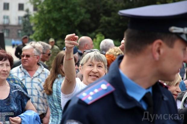 Милицейский смотр, митинг и контрмитинг на Куликовом поле, фото-7