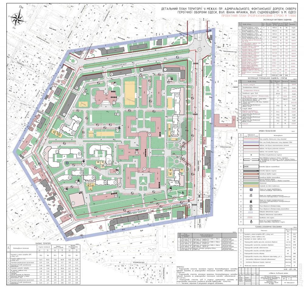 Проектный план. Белые прямоугольники - будущие многоэтажки
