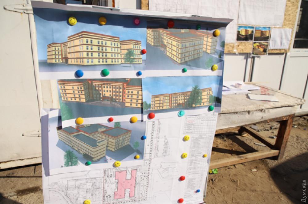 На поселке Котовского за счет кредитных средств начали строить новую школу: она получится довольно дорогой