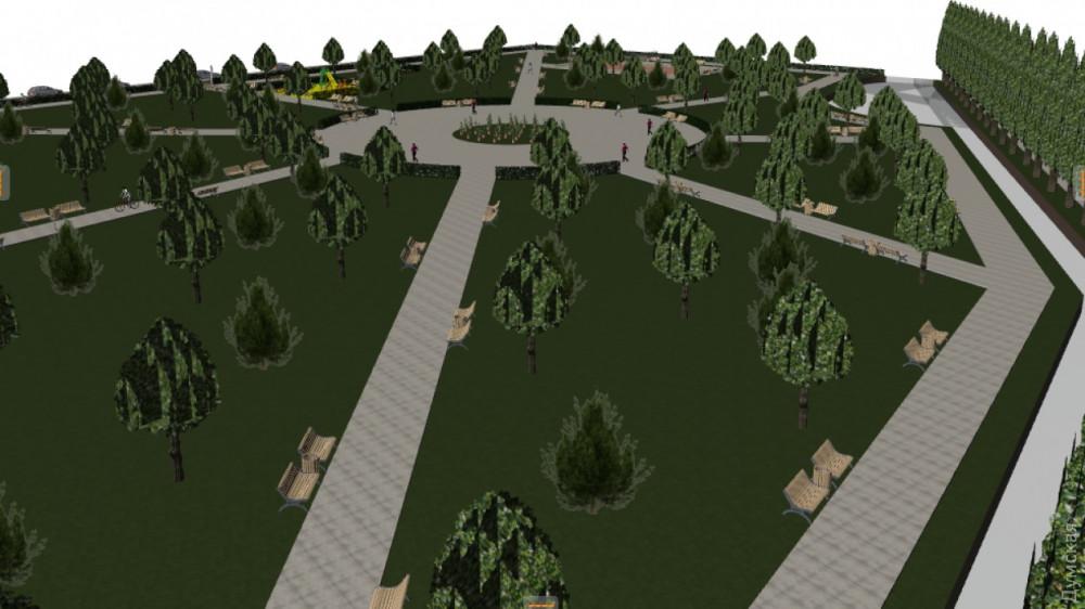 Визуализация проекта о воссоздании Хаджибейского парка сделана отвратительно