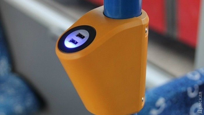 Зарядка для гаджетов в трамваях и троллейбусах
