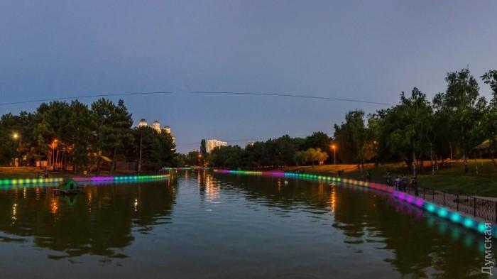 Световое шоу в парке Победы