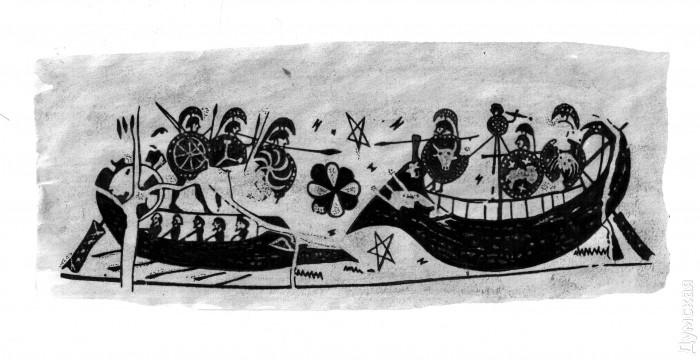 Так это судно изображали древние
