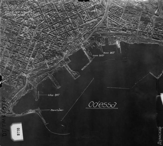Одесский порт на немецкой аэрофотосъемке 1941 года