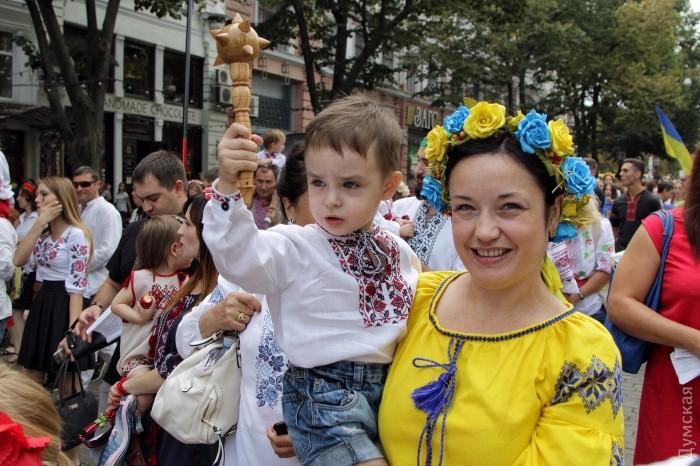 Марш в вышиванках прошел в центре Одессы - Цензор.НЕТ 8098