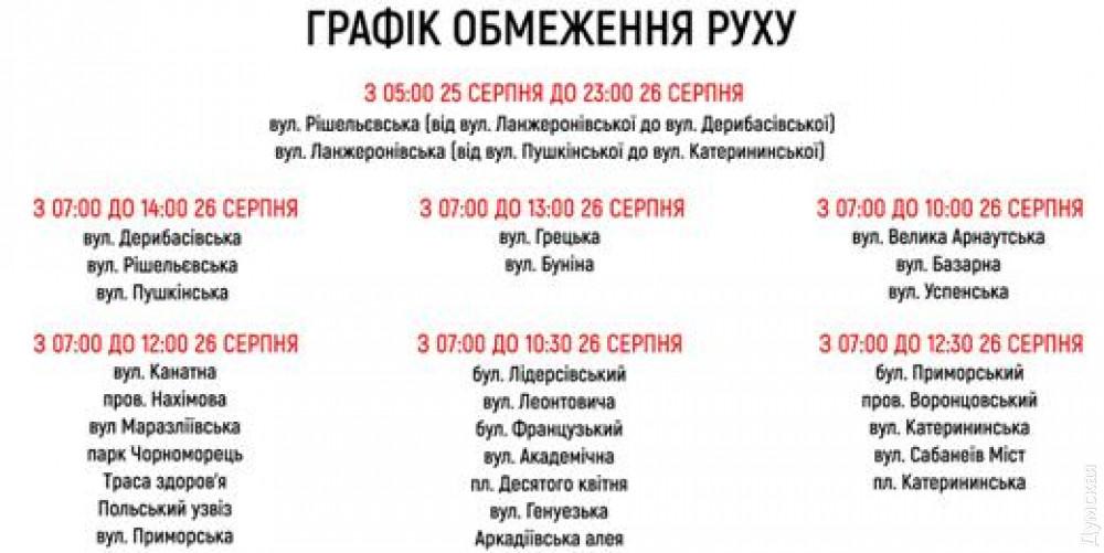 На выходных центр Одессы закроют для машин из-за полумарафона