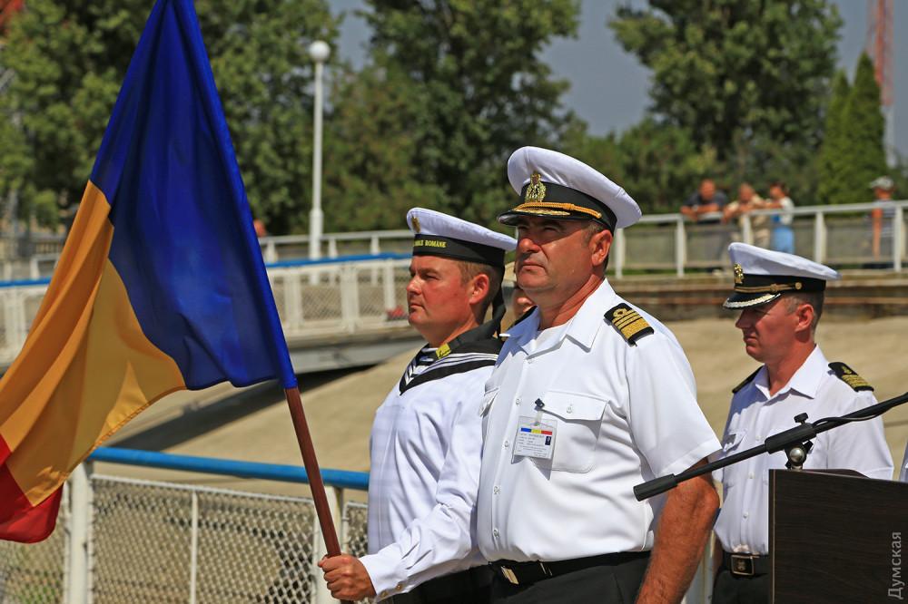 Руководитель учений с румынской стороны командор Николай Марчел