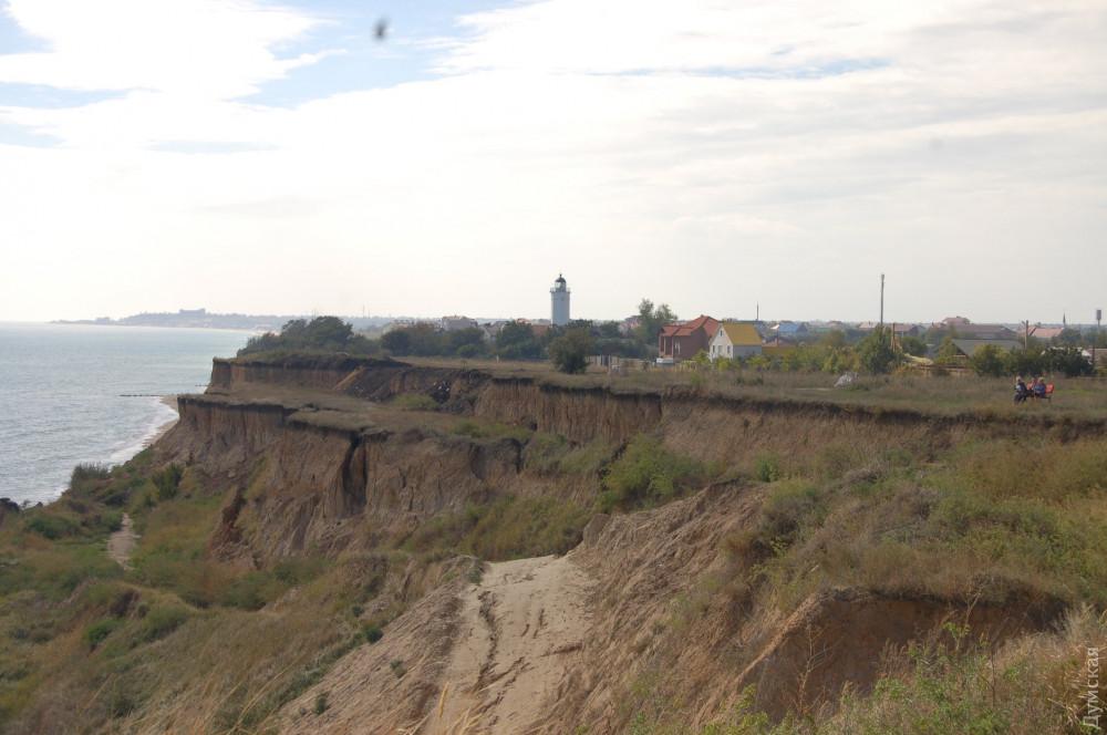 В Санжейке произошел масштабный оползень