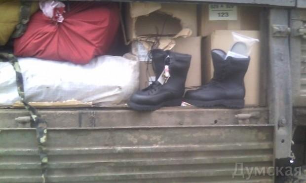 Одесский «Шторм» задержал подозрительный грузовик со «списанным» военным имуществом, фото-1