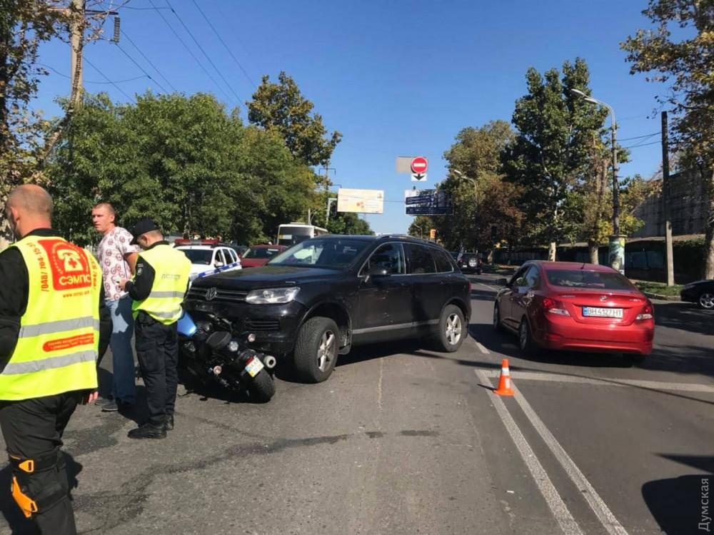 На Краснова внедорожник сбил мотоциклиста на «Ямахе»