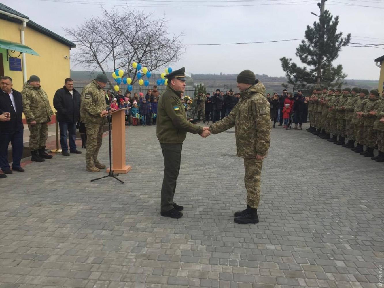 ВОдесской области награнице сМолдовой открылся новый департамент погранслужбы