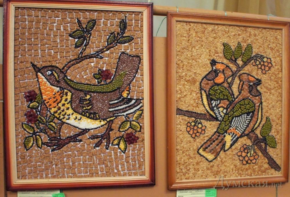Картины из зерен и семян своими руками 43