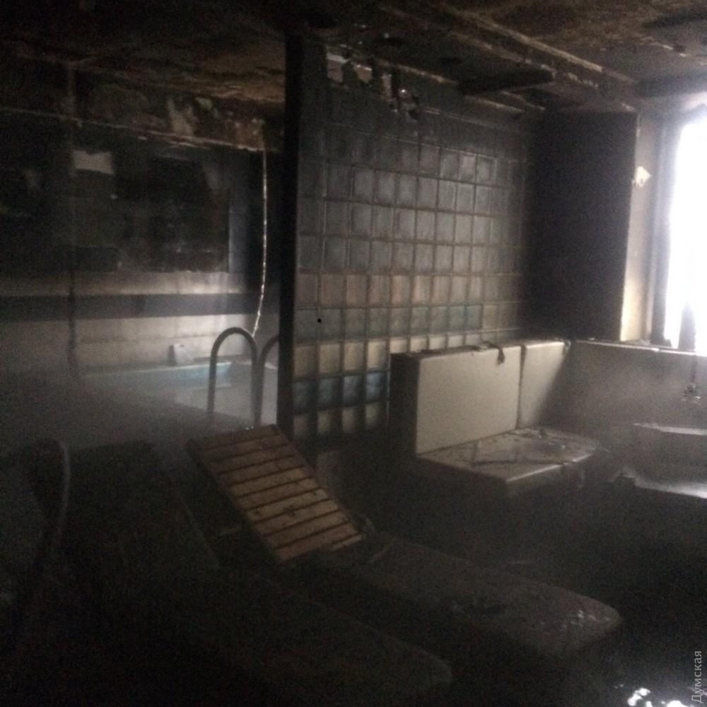 Сауна фитнес-центра загорелась вОдессе