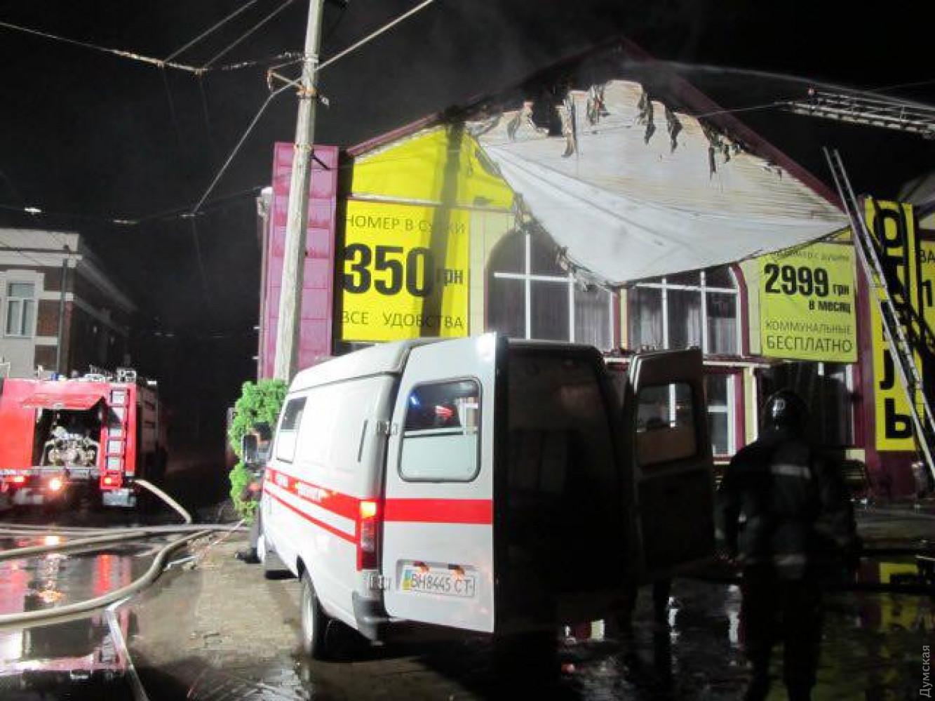 В милиции  поведали  осамой «мрачной» версии смертоносного  пожара вотеле Одессы