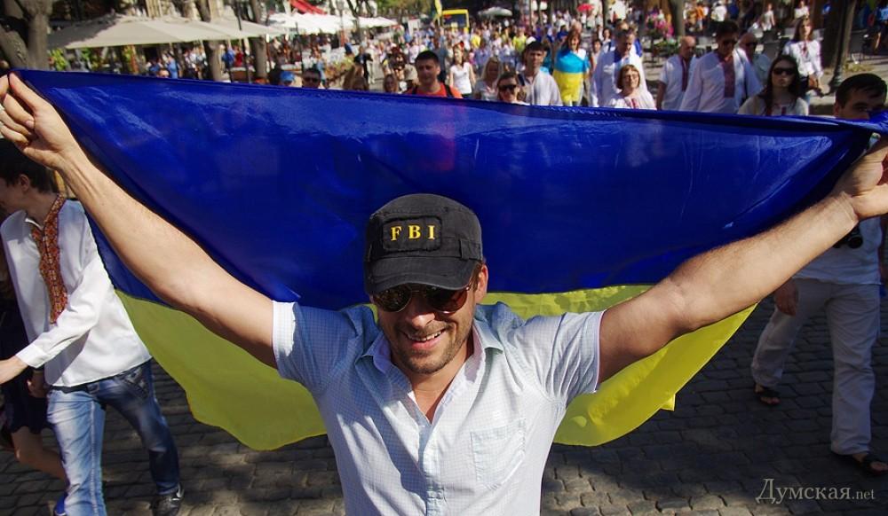 """""""Километр флагов для Мариуполя"""" - в город прибыло послание от киевлян - Цензор.НЕТ 5073"""