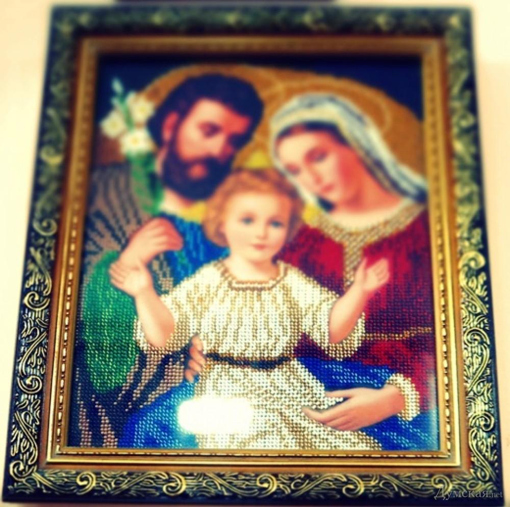 Вышивка бисером икона в родах помощница