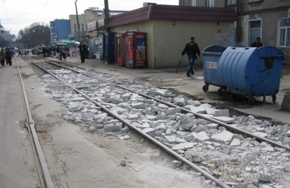 Одесса: движение трамваев