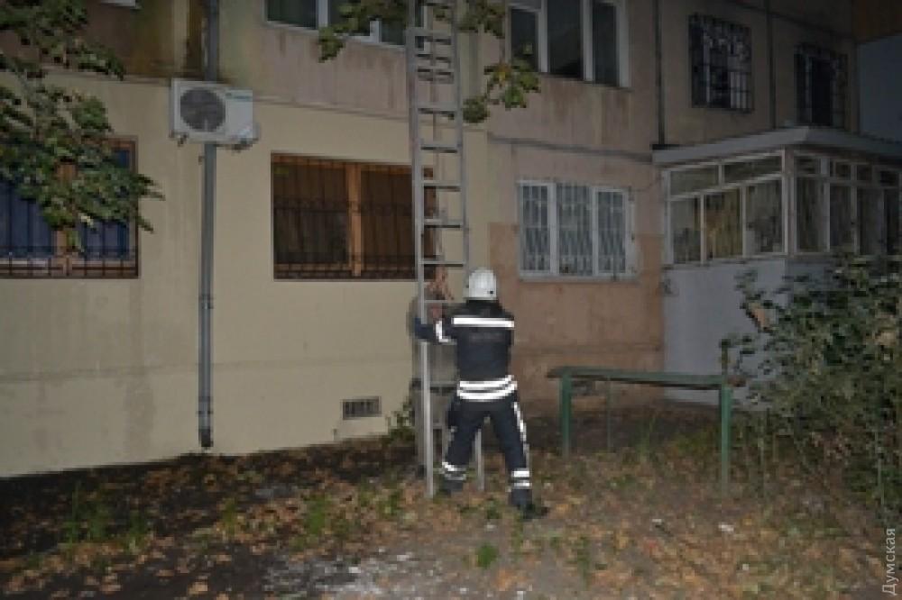 ВОдессе ликвидирован пожар водноэтажном жилом помещении