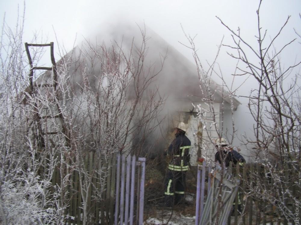 Вгорящем доме вОдесской области обнаружили тело женщины