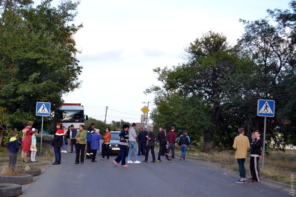 Около Одесского НПЗ перекрывали дорогу