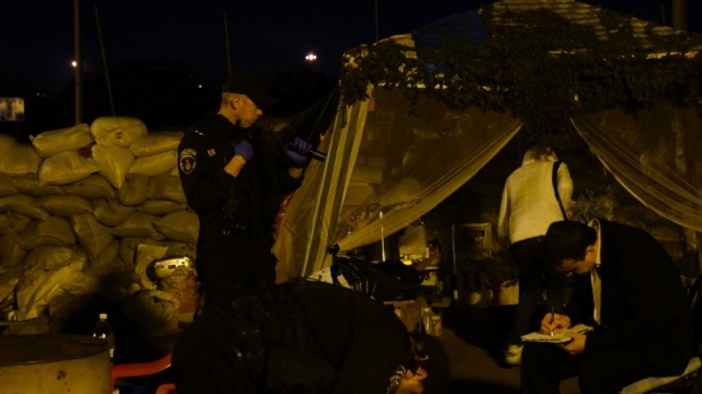 В одесский блокпост могли бросить боевую гранату (фото, видео)