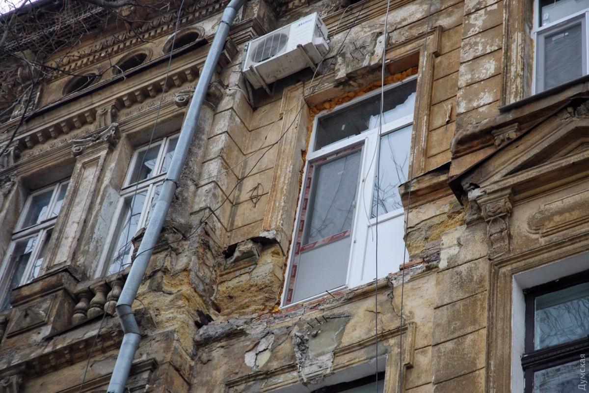 В центре одессы обрушился балкон (фото) - новости одессы.