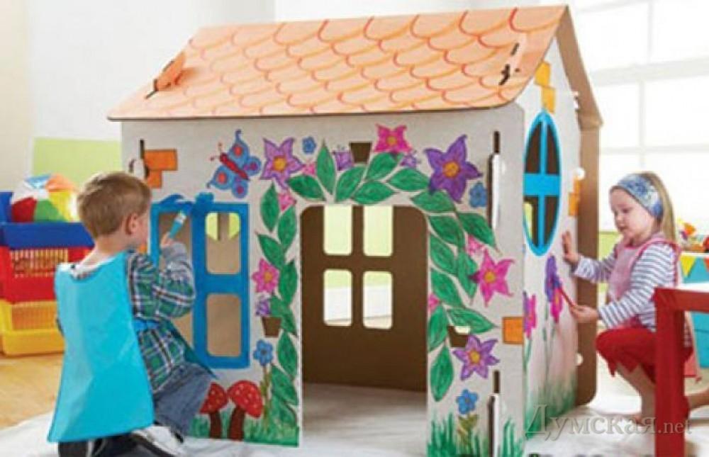 Фото картонный домик своими руками