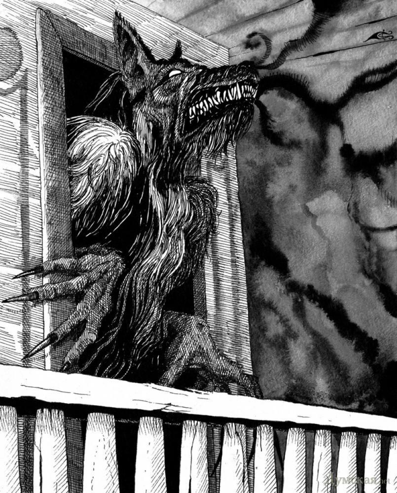 Чрно белая порнуха в стиле фильма ужасов в старом замке