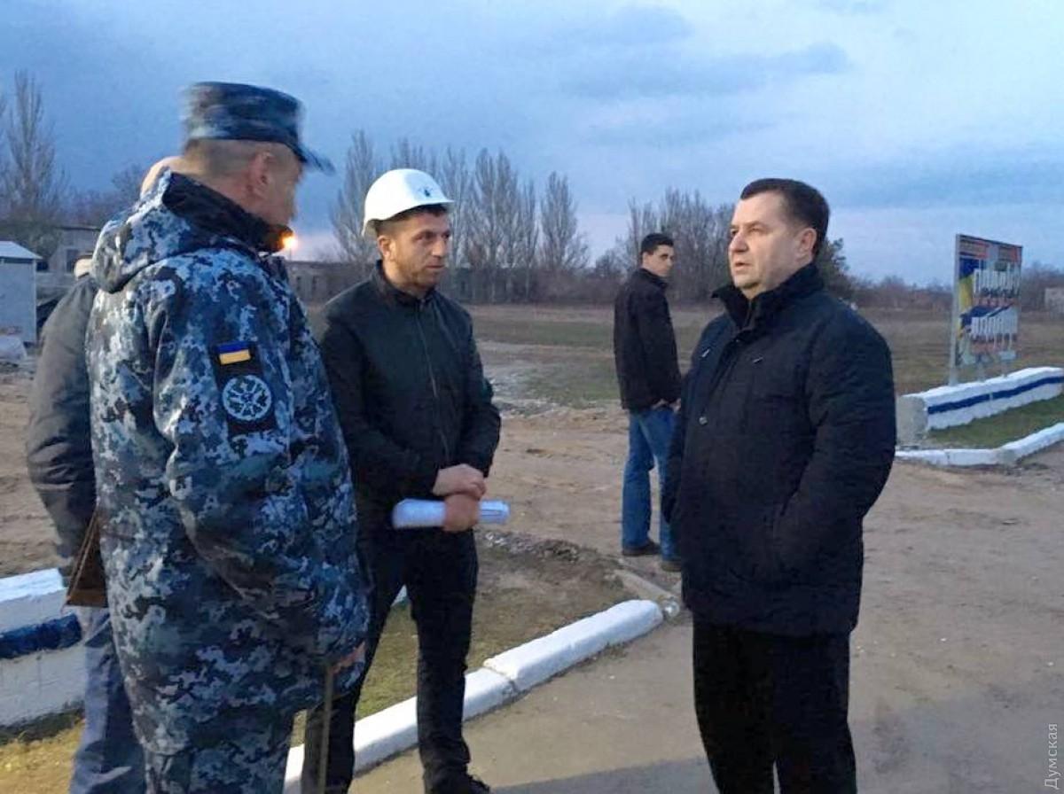 Министр обороны Украины проверил 1-ый этап возведения базы ВМС вОдессе