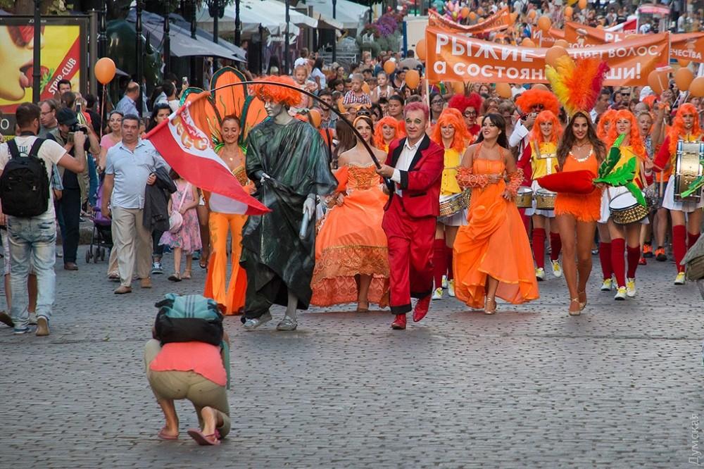 ВОдессе впервый раз прошел «парад рыжих»