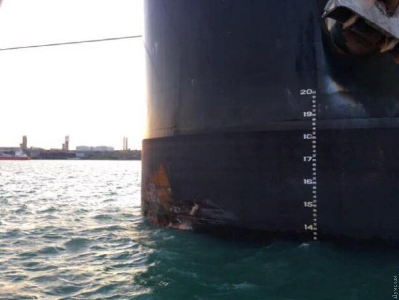 Впричал врезалось судно изМальты, ноне  изСША— Порт Одессы