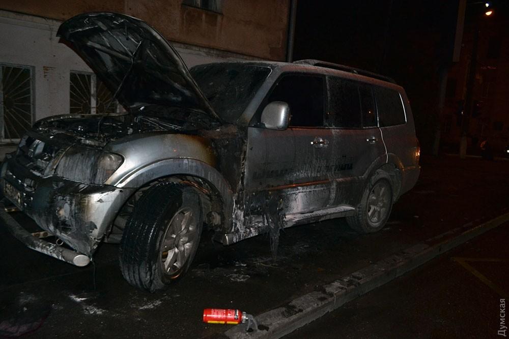 ВОдессе сожгли авто местного «автомайдановца»