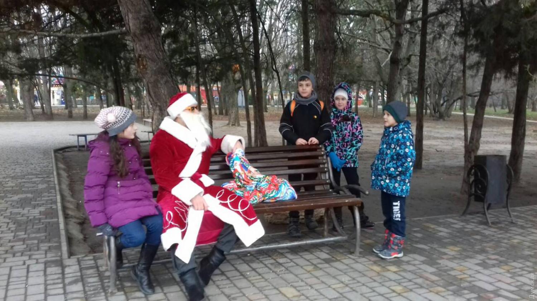 Дед мороз с большим членом