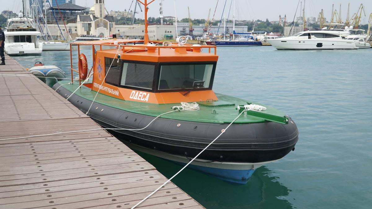 Упричалов Одесского морвокзала появился 1-ый вгосударстве Украина спасательный катер
