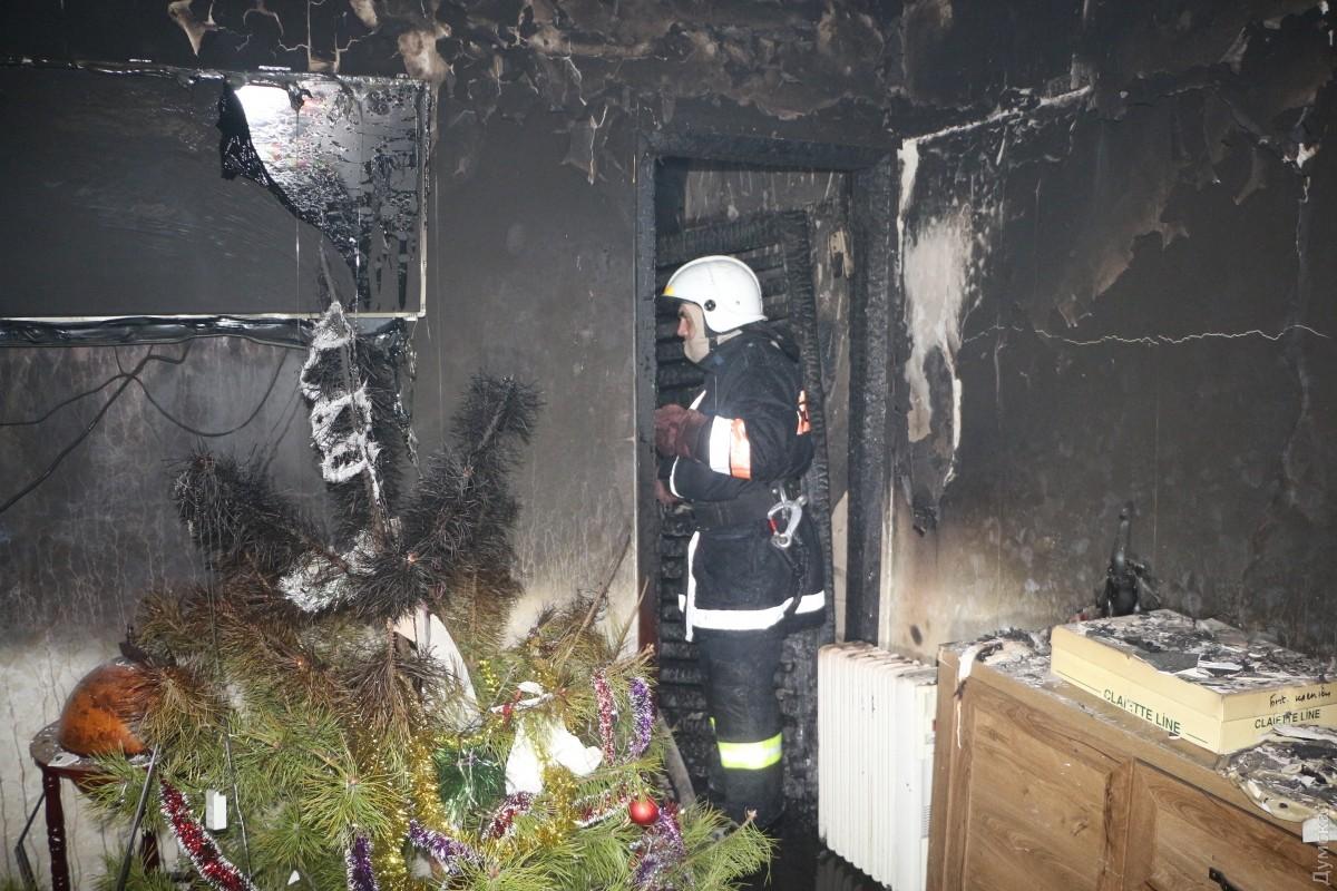 ВОдессе впроцессе тушения пожара спасены три человека