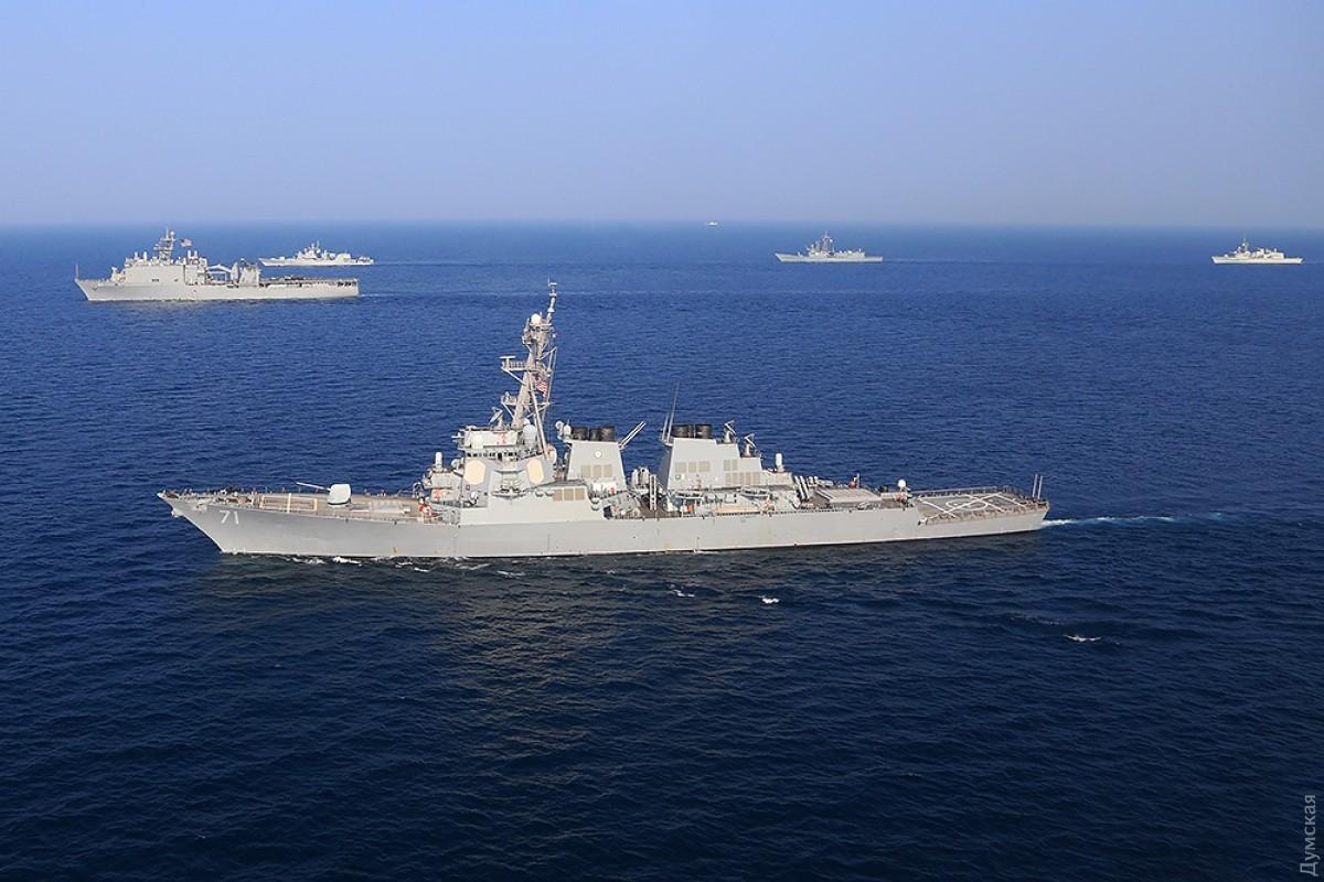 Эсминец ВМС США вошел вЧерное море