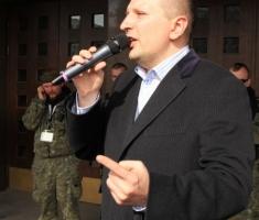 Лидер Интернет партии Украины Дмитрий Голубов.