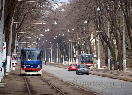 переносе трамвайных путей