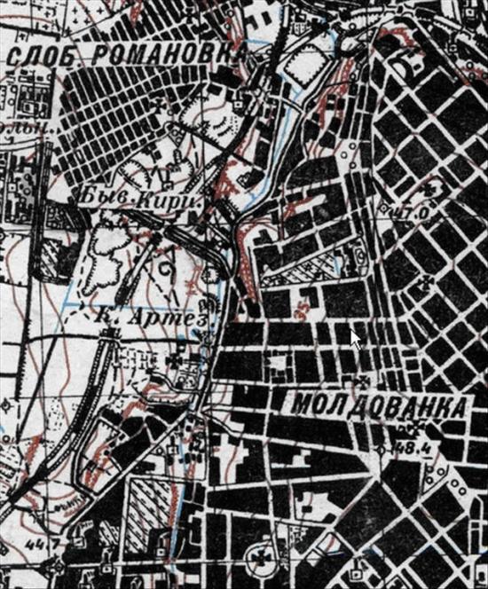 Карта Одессы 1929 года.