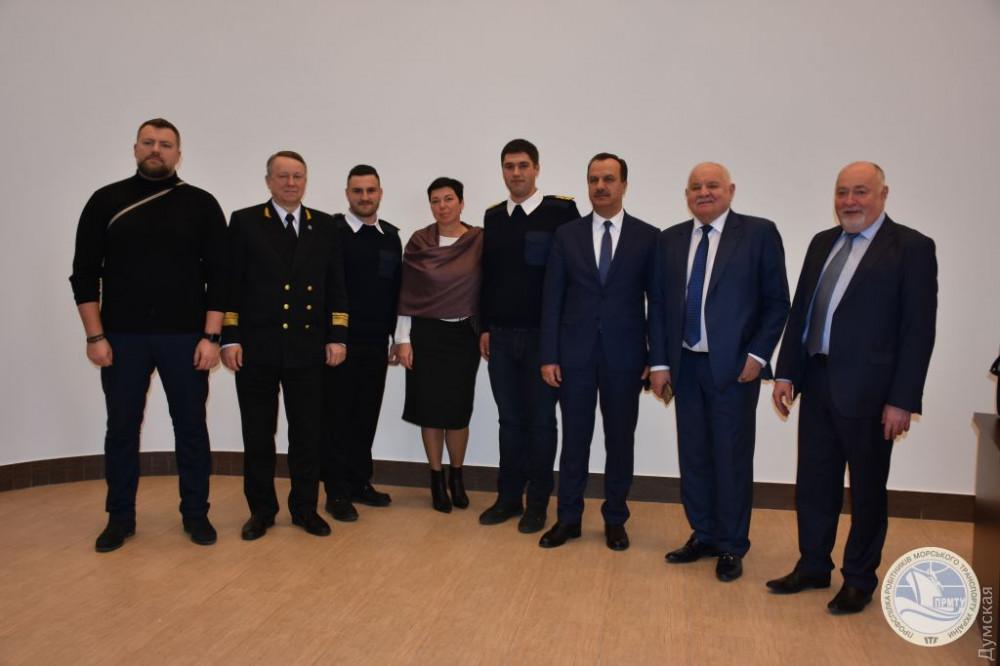 Михаил Миронюк с представителями ПРМТУ, компании Hansa Marine Management, МИД Украины и НУ «ОМА»
