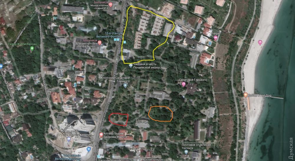 Желтое - украденное Марковым и его партнерами, красное - то, что похитили сейчас, оранжевое - территория грота, ныне принадлежащая Унгуряну